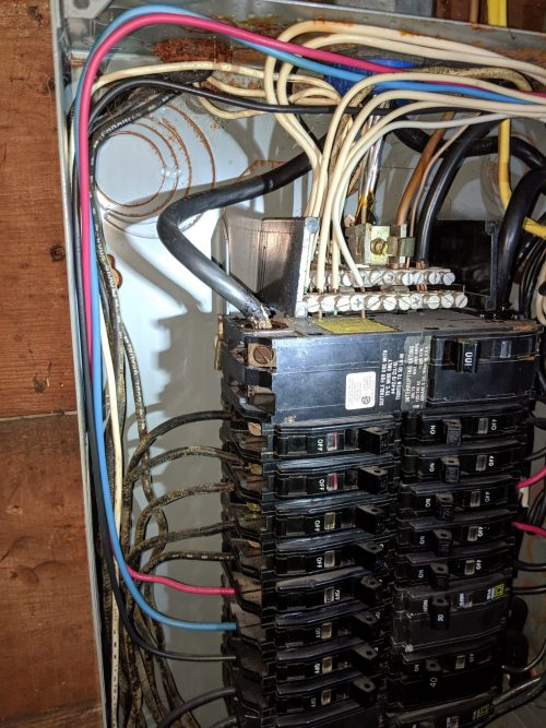 Electrical Panel That Needs To Be Upgraded